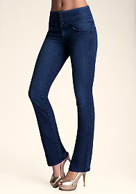 bebe Stacked Baby Boot Jeans