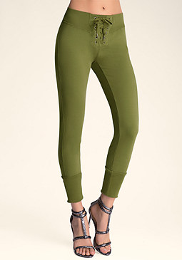 bebe Lace Front Slim Sweats