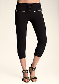bebe Asymmetrical Cropped Pants