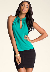 bebe Necklace Halter Top