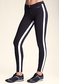 bebe Colorblock Zip Leggings