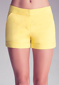 bebe Cuffed Trouser Shorts