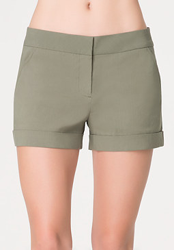 bebe Cuffed Trouser Shorts