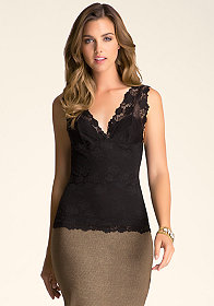 bebe Julia Lace Cami Top