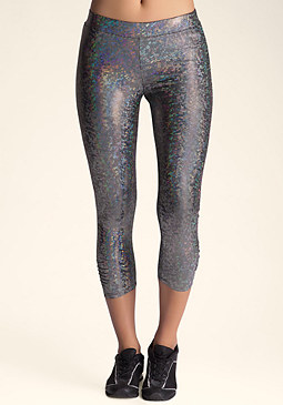 bebe Iridescent Crop Legging