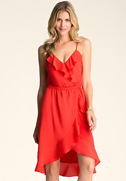 Ruffle Hi-Lo Dress at bebe
