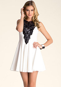 Fit & Flare Lace Dress at bebe