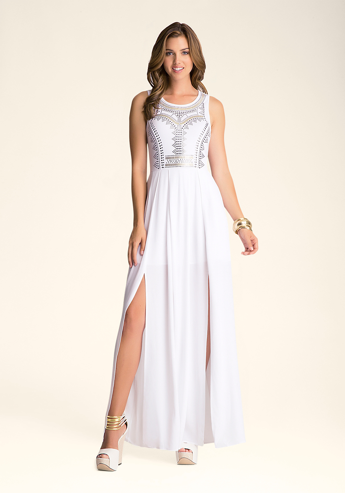 Embellished Slit Maxi Dress