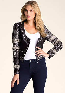 bebe Studded Bobble Jacket