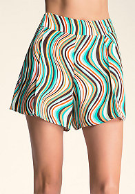 SOFT PRINT SHORTS at bebe