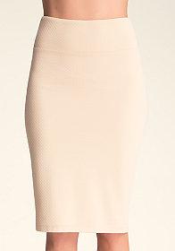 Textured Midi Knit Skirt at bebe