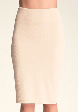 Textured Midi Knit Skirt at bebe