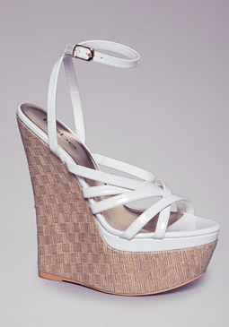 bebe Nori Strappy Wedges