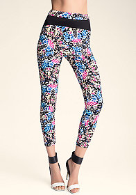 bebe Mixed Media Leggings