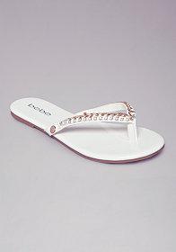 bebe Ava Braided Flip Flops