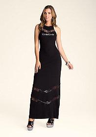 bebe Chevron Inset Dress