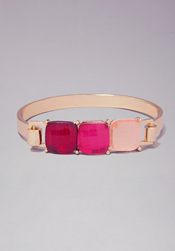 bebe Delicate Stone Bangle Trio