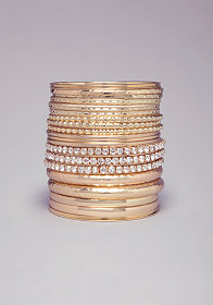 TEXTURED BANGLE SET at bebe