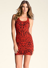 bebe Animal Crossover Dress