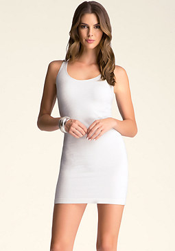 bebe Multi Cutout Back Dress