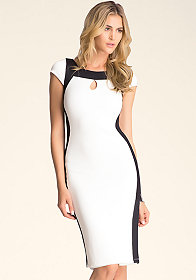 bebe Colorblock Midi Dress