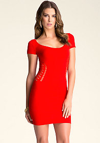 bebe Alina Textured Dress