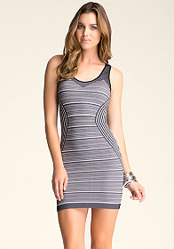 bebe Chessa Stripe Dress