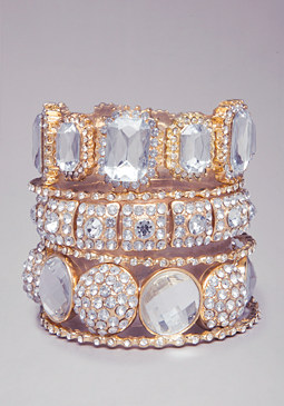bebe Crystal Bangle Set