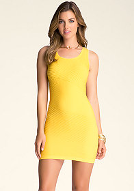bebe Diamond-Back Textured Dress