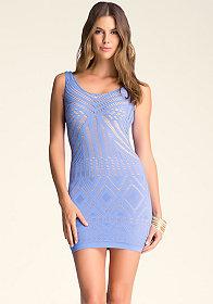 bebe Lenka Double-Layer Dress