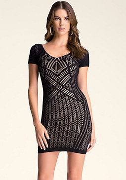 bebe Lonna Double Layer Dress