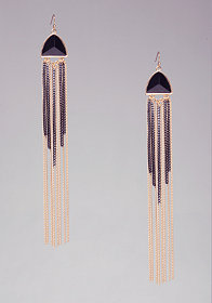 bebe Pyramid & Chain Earrings