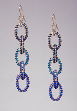 bebe Crystal Chainlink Earrings