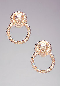 Lion Door Knocker Earrings at bebe