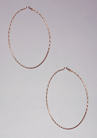 bebe Textured Hoop Earrings