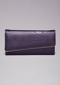 bebe Zeena Zipper Wallet