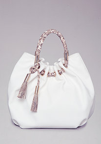 Elana Tassel Bucket Bag at bebe