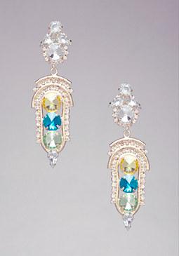 bebe Abstract Stone Earrings