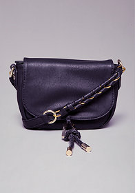 bebe Mila Braid Crossbody Purse