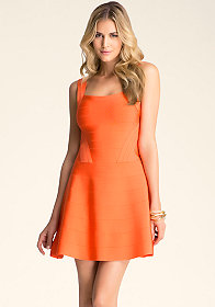 Cutout Fit & Flare Dress at bebe