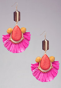 bebe Tassel & Pom Earrings