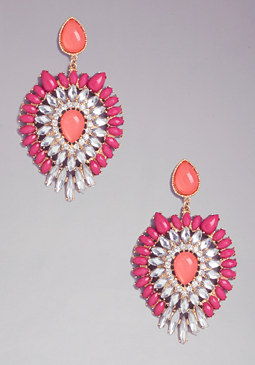 bebe Bead Teardrop Earrings