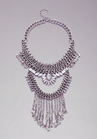 bebe Chainlink & Coin Necklace