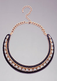 Crystal Collar Necklace at bebe