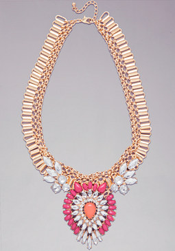 bebe Bead & Chain Necklace