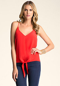 SILK TIED CAMI at bebe