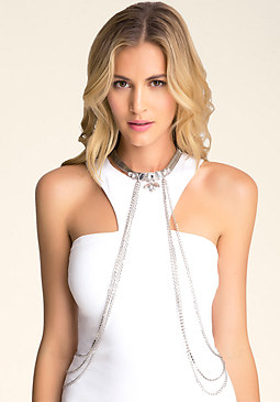 Jewel Collar Body Chain at bebe