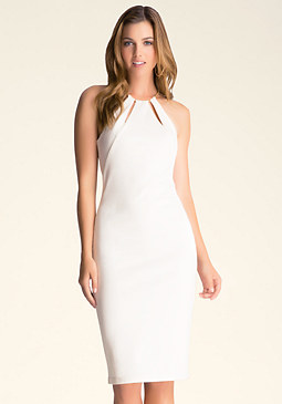 bebe Keyhole Neckline Dress