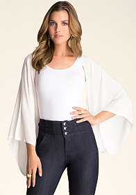 bebe Embroidered Kimono Cover Up