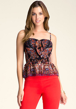 TIE FRONT SMOCK BUSTIER at bebe